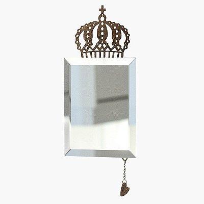 Espelho Decorativo: Com Detalhe em Ferro Coroa