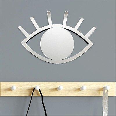 Espelho Decorativo Olho Prateado