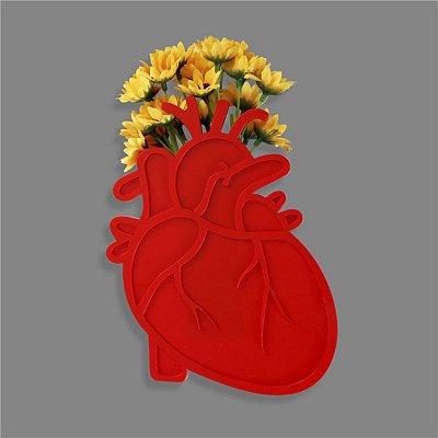Vaso de Plantas Coração Anatômico
