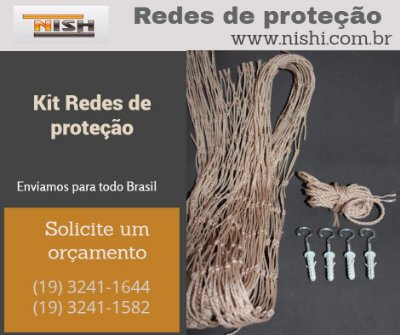 KIT INSTALAÇÃO REDE DE PROTEÇÃO MALHA 5 SOB MEDIDA