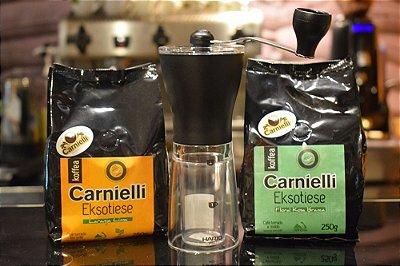 Kit Cafés Exóticos com Moedor Manual
