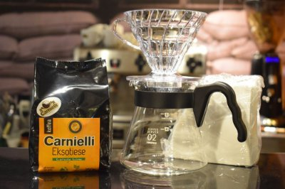 Kit Café Exótico Carnielli e Hario v60