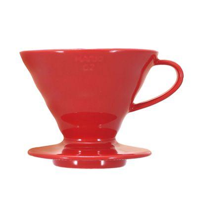 Suporte Filtro Cerâmica Vermelho Hario V60 - nº 02