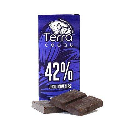 Chocolate Terra Cacau 42% com Nibs (20g)