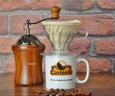 Kit Hario  - Suporte + Moedor Manual + Caneca Carnielli