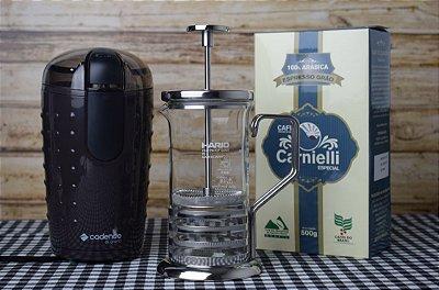Kit Prensa + Moedor + Café Carnielli