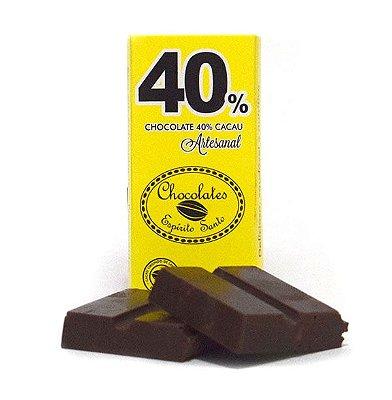 40% Cacau Chocolates Espírito Santo (25g)