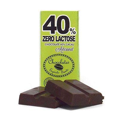 40% Cacau Zero Lactose - Chocolates Espírito Santo (25g)