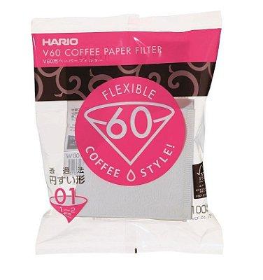 Filtro Hario v60 - nº 1 - 100un