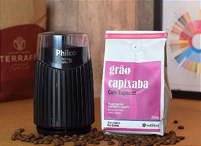 Moedor Philco elétrico + GANHE 1 Grão Capixaba