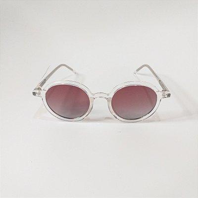 Óculos De Sol Mustbe Transparente Redondo