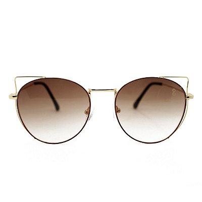 Óculos de Sol MustBe Kitty Round Tan Slim