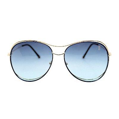 Óculos de Sol MustBe Curves Gold&Blue Slim