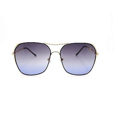 Óculos de Sol MustBe Angle Gold&Blue Slim