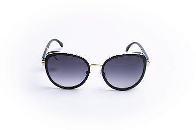 Óculos De Sol Mustbe Black/Dourado