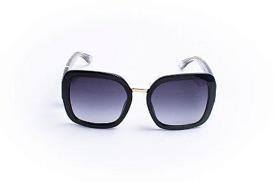 Óculos De Sol Mustbe Black Transparente