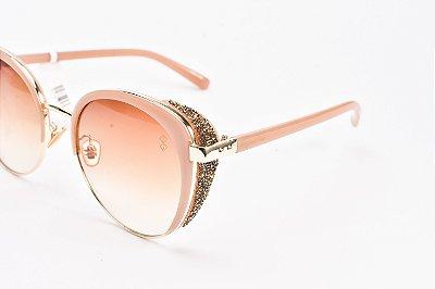 Óculos De Sol Mustbe Gabriela Markus strass Nude