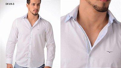 Camisa Diferenciada Mista Branca/Azul