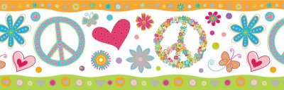 Faixa Infantil Coração Colorido