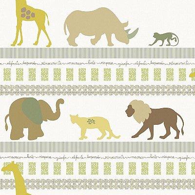 Papel de Parede Infantário Selva Animais Bobinex Infantário 1718