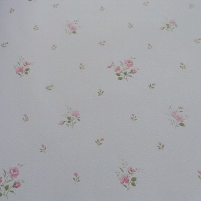 Papel de Parede Bege Com Florzinhas Rosas Bobinex Bambinos 5047