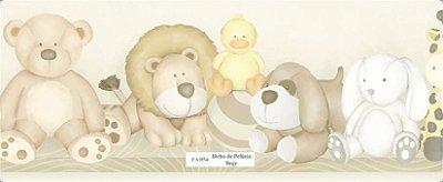 Faixa de Animais (Urso, Leão, Coelho e Girafa) Bege