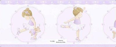Faixa Menina Bailarina e seu Ursinho na cor Lilás