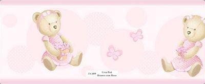 Faixa Urso Borboleta Rosa
