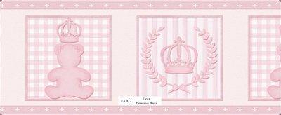 Faixa de Parede Urso Princesa Rosa