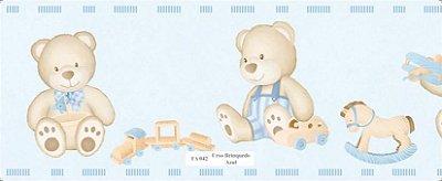 Faixa Urso Carrinho Azul Claro