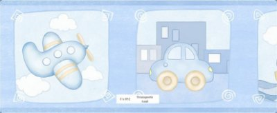 Faixa Avião e Carro em Azul