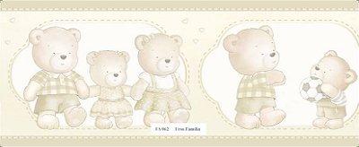 Faixa Família Urso Brincando Bege
