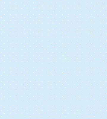 Papel de Parede Póa Fundo Azul e Bolinha Branca