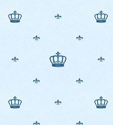 Papel de Parede Coroa Azul Marinho