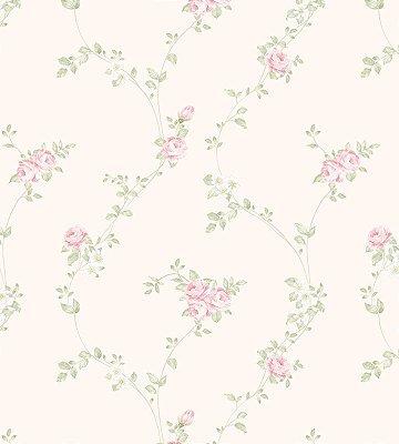Papel de Parede Flores Rosas com Fundo Rose