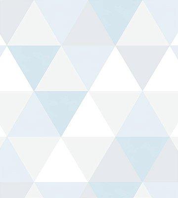 Papel de Parede triangulo Azul e Cinza