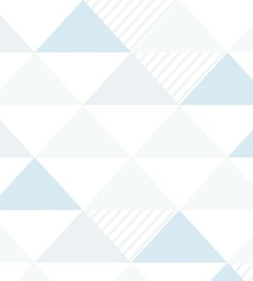 Papel de Parede Triangulo Azul, Cinza e Branco