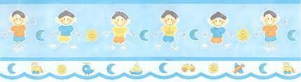 Faixa de Papel Menino Palito Azul Bobinex Bambinos 8522