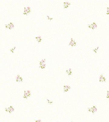 Papel de Parede Flor Rosa com Fundo Bege