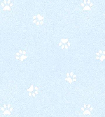 Papel de Parede Pegadas Cachorro Azul