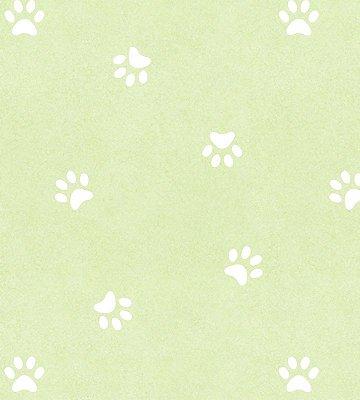Papel de Parede Pegadas Cachorro Verde