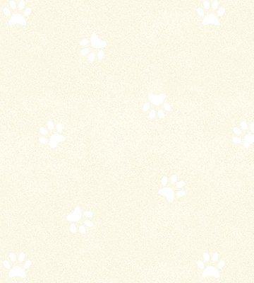 Papel de Parede Pegadas Cachorro Bege