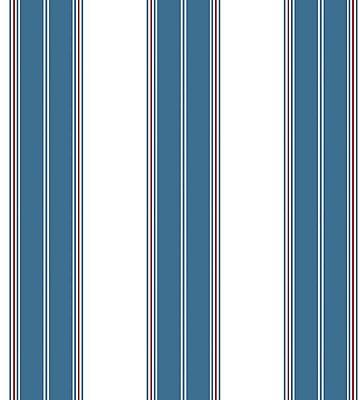 Papel de Parede Listrado Azul e Vermelho