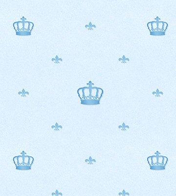Papel de Parede Coroa Azul