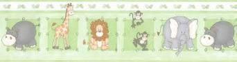 Faixa de Papel Zoo Verde Bobinex Bambinos 8502