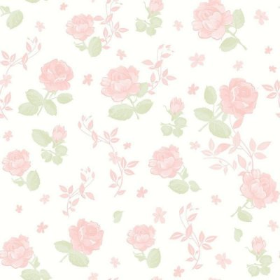 Papel Floral Rosa Grande Bobinex Bambinos 3361