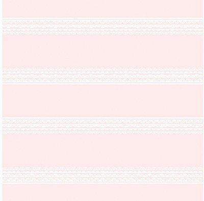 Papel de Parede Rendas Horizontais Rosas Bobinex Bambinos 3336