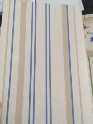 Papel de Parede Listras Bege e Azul Bobinex Bambinos 3315