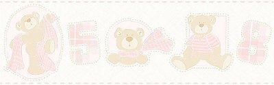 Faixa de Parede Ursos Rosa Bobinex Bambinos 3207