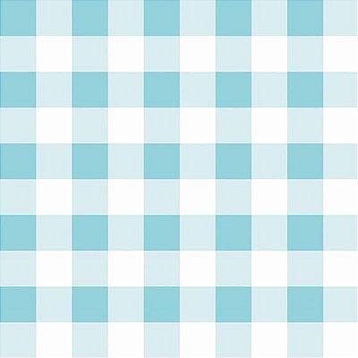 Papel de Parede Infantil Xadrez - Azul Claro
